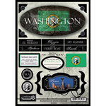 Scrapbook Customs - United States Collection - Washington - State Cardstock Stickers - Travel