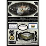 Scrapbook Customs - United States Collection - West Virginia - State Cardstock Stickers - Travel