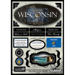 Scrapbook Customs - United States Collection - Wisconsin - State Cardstock Stickers - Travel