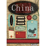 Scrapbook Customs - World Collection - China - Cardstock Stickers - Travel