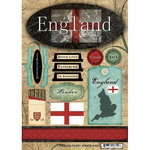 Scrapbook Customs - World Collection - England - Cardstock Stickers - Travel