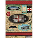 Scrapbook Customs - World Collection - England - Cardstock Stickers - Travel - London