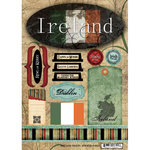 Scrapbook Customs - World Collection - Ireland - Cardstock Stickers - Travel