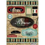 Scrapbook Customs - World Collection - Italy - Cardstock Stickers - Travel - Rome