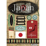 Scrapbook Customs - World Collection - Japan - Cardstock Stickers - Travel