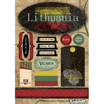 Scrapbook Customs - World Collection - Lithuania - Cardstock Stickers - Travel