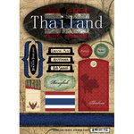 Scrapbook Customs - World Collection - Thailand - Cardstock Stickers - Travel