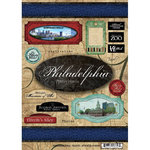 Scrapbook Customs - United States Collection - Pennsylvania - Cardstock Stickers - Travel - Philadelphia