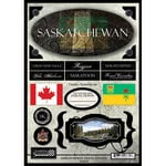 Scrapbook Customs - World Collection - Canada - Cardstock Stickers - Travel - Saskatchewan