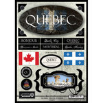 Scrapbook Customs - World Collection - Canada - Cardstock Stickers - Travel - Quebec