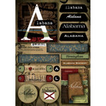 Scrapbook Customs - United States Collection - Alabama - Cardstock Stickers - Patchwork