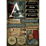 Scrapbook Customs - United States Collection - Alaska - Cardstock Stickers - Patchwork