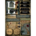 Scrapbook Customs - United States Collection - Hawaii - Cardstock Stickers - Patchwork