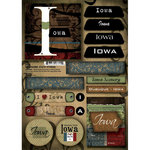 Scrapbook Customs - United States Collection - Iowa - Cardstock Stickers - Patchwork