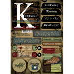 Scrapbook Customs - United States Collection - Kentucky - Cardstock Stickers - Patchwork