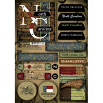 Scrapbook Customs - United States Collection - North Carolina - Cardstock Stickers - Patchwork