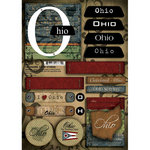 Scrapbook Customs - United States Collection - Ohio - Cardstock Stickers - Patchwork