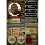 Scrapbook Customs - United States Collection - Oklahoma - Cardstock Stickers - Patchwork
