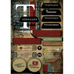 Scrapbook Customs - United States Collection - Tennessee - Cardstock Stickers - Patchwork