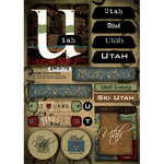 Scrapbook Customs - United States Collection - Utah - Cardstock Stickers - Patchwork