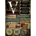 Scrapbook Customs - United States Collection - Vermont - Cardstock Stickers - Patchwork