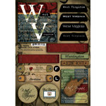 Scrapbook Customs - United States Collection - West Virginia - Cardstock Stickers - Patchwork