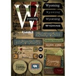 Scrapbook Customs - United States Collection - Wyoming - Cardstock Stickers - Patchwork