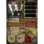 Scrapbook Customs - United States Collection - Washington DC - Cardstock Stickers - Patchwork