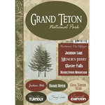 Scrapbook Customs - United States Collection - Wyoming - National Park - Cardstock Stickers - Grand Teton