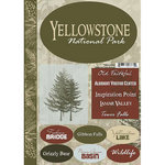 Scrapbook Customs - United States Collection - Wyoming - National Park - Cardstock Stickers - Yellowstone