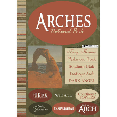 Scrapbook Customs - United States Collection - Utah - National Park - Cardstock Stickers - Arches