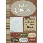 Scrapbook Customs - Travel Collection - National Park - Cardstock Stickers - Four Corners