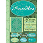 Scrapbook Customs - World Collection - Puerto Rico - Cardstock Stickers - Tropical