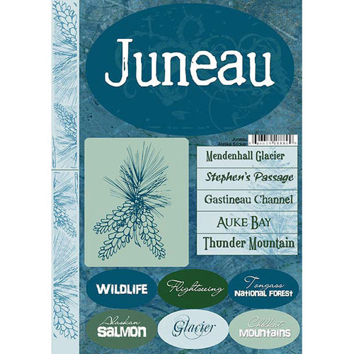 Scrapbook Customs - United States Collection - Alaska - Cardstock Stickers - Juneau