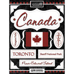 Scrapbook Customs - World Collection - Canada - Cardstock Stickers - Discover