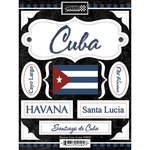 Scrapbook Customs - World Collection - Cuba - Cardstock Stickers - Discover