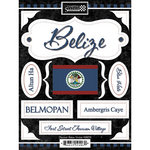 Scrapbook Customs - World Collection - Belize - Cardstock Stickers - Discover