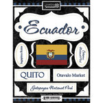 Scrapbook Customs - World Collection - Ecuador - Cardstock Stickers - Discover