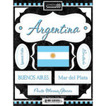 Scrapbook Customs - World Collection - Argentina - Cardstock Stickers - Discover