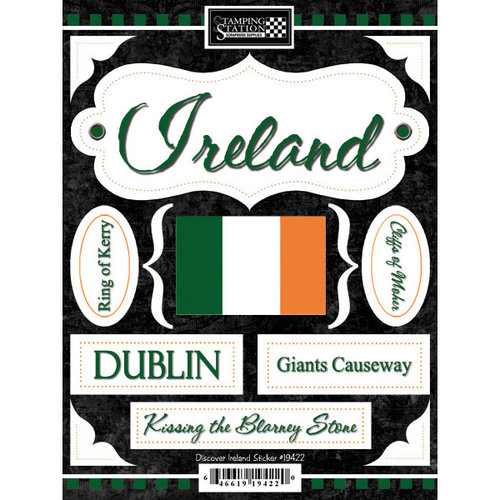 Scrapbook Customs - World Collection - Ireland - Cardstock Stickers - Discover