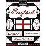Scrapbook Customs - World Collection - England - Cardstock Stickers - Discover
