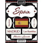 Scrapbook Customs - World Collection - Spain - Cardstock Stickers - Discover