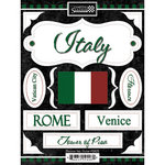 Scrapbook Customs - World Collection - Italy - Cardstock Stickers - Discover
