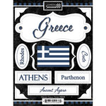 Scrapbook Customs - World Collection - Greece - Cardstock Stickers - Discover