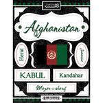 Scrapbook Customs - World Collection - Afghanistan - Cardstock Stickers - Discover