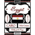 Scrapbook Customs - World Collection - Egypt - Cardstock Stickers - Discover