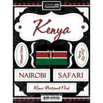 Scrapbook Customs - World Collection - Kenya - Cardstock Stickers - Discover