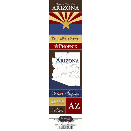 Scrapbook Customs - United States Collection - Arizona - Cardstock Stickers - Chic