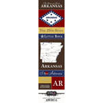 Scrapbook Customs - United States Collection - Arkansas - Cardstock Stickers - Chic