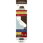 Scrapbook Customs - United States Collection - California - Cardstock Stickers - Chic